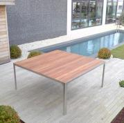 Table Inox et teck